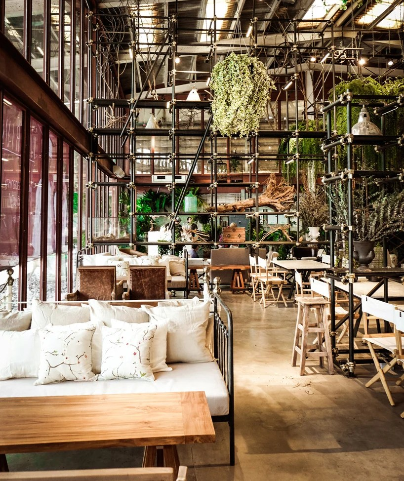 Green Restaurant Interior Design