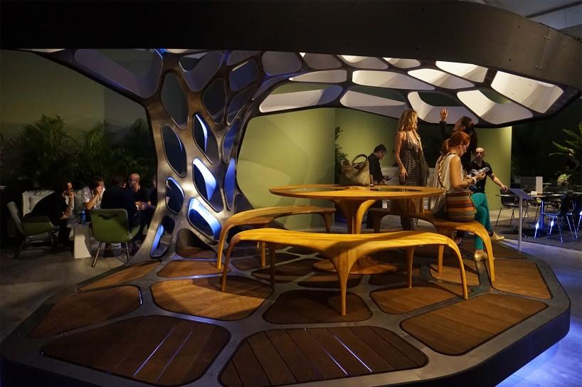 Zaha Hadid Volu Dining Pavilion At Design Miami