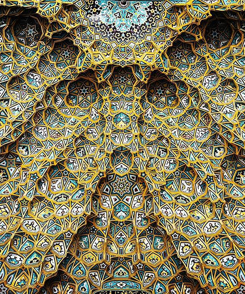 photographer documents the architectural details of ceilings in iran