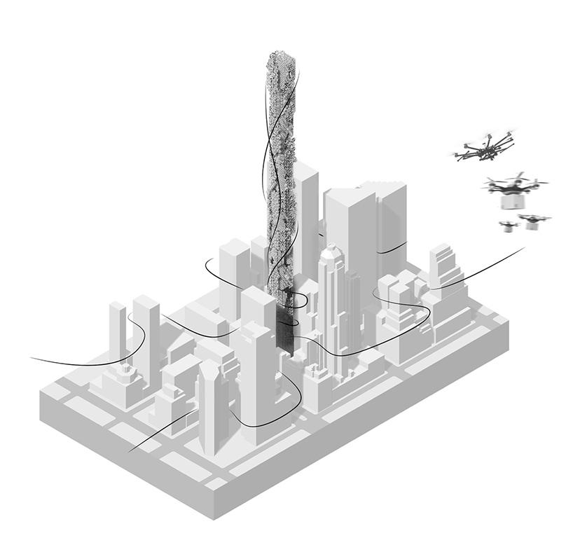 the hive drone skyscraper new york hadeel ayed mohammad yifeng zhao chengda zhu designboom 02