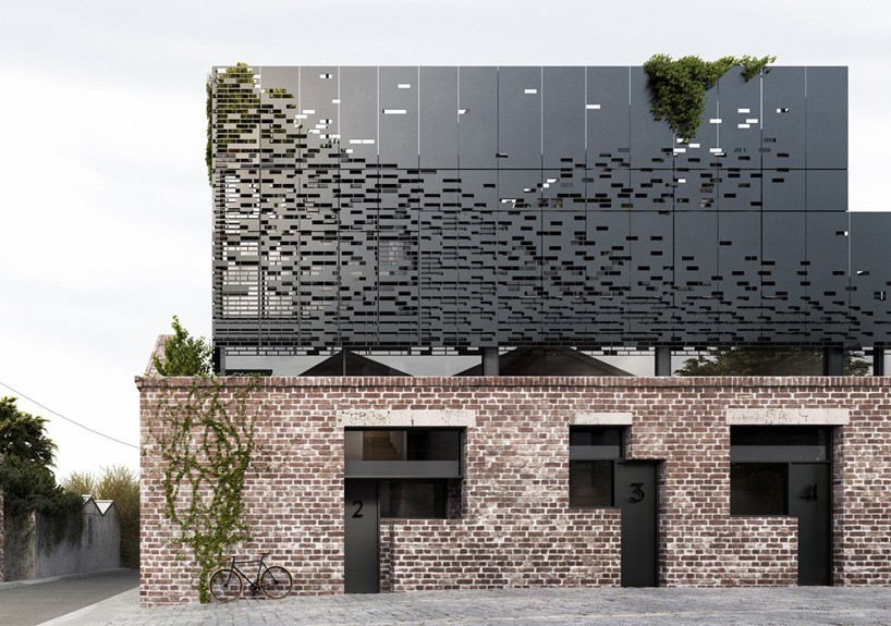 DKO Inserts Floating Perforated Box To House Residences In