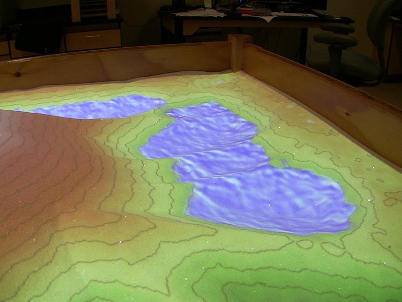 AR Sandbox Lets Users Shape Lakes And Create Peaks Through