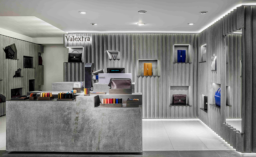David Adjaye Designs Concrete Interior For Valextra At Harrods