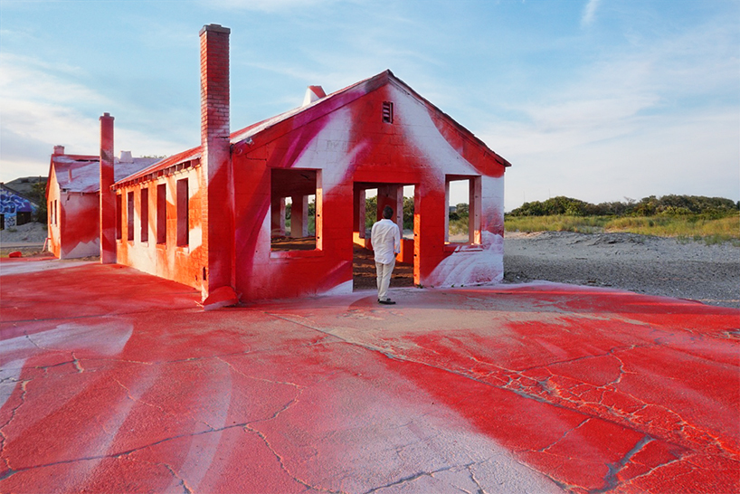 Katharina Grosse Colorizes Neglected Building In Rockaway NY