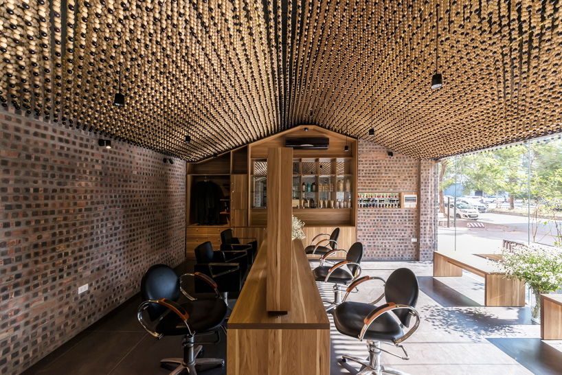 HampP Architects Install A Ceiling Of Beads Inside
