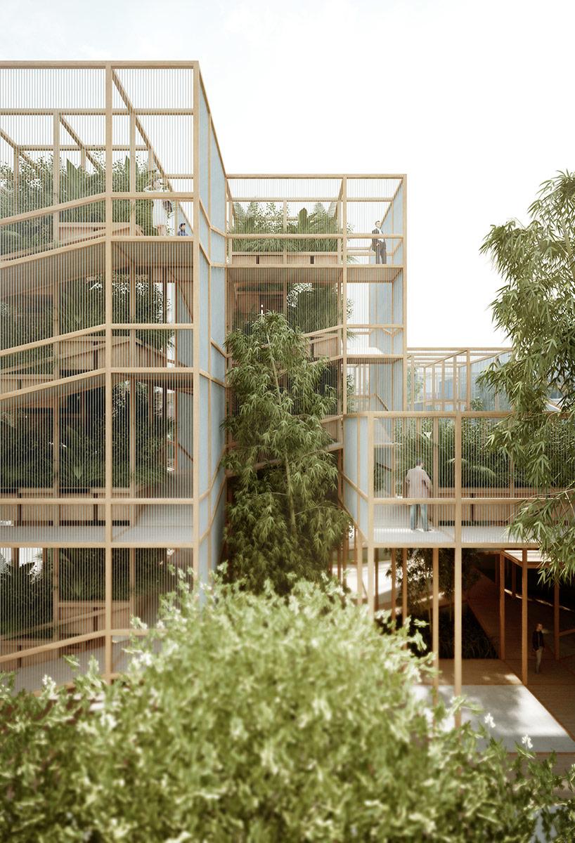 Designboom Penda S Modular Thousand Yards Pavilion To