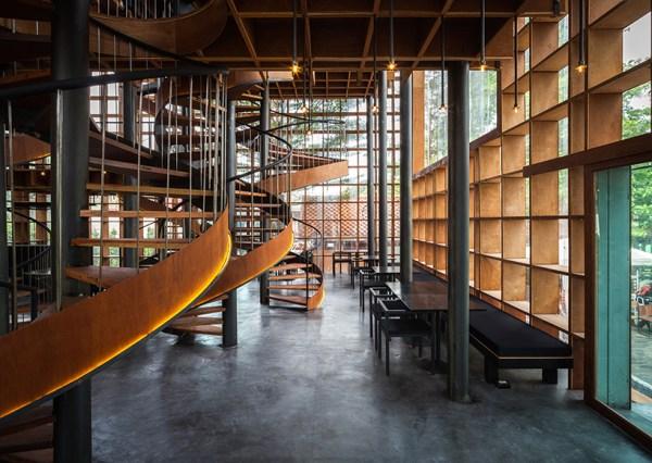 bangkok project studio wraps wine ayutthaya's timber grid ...