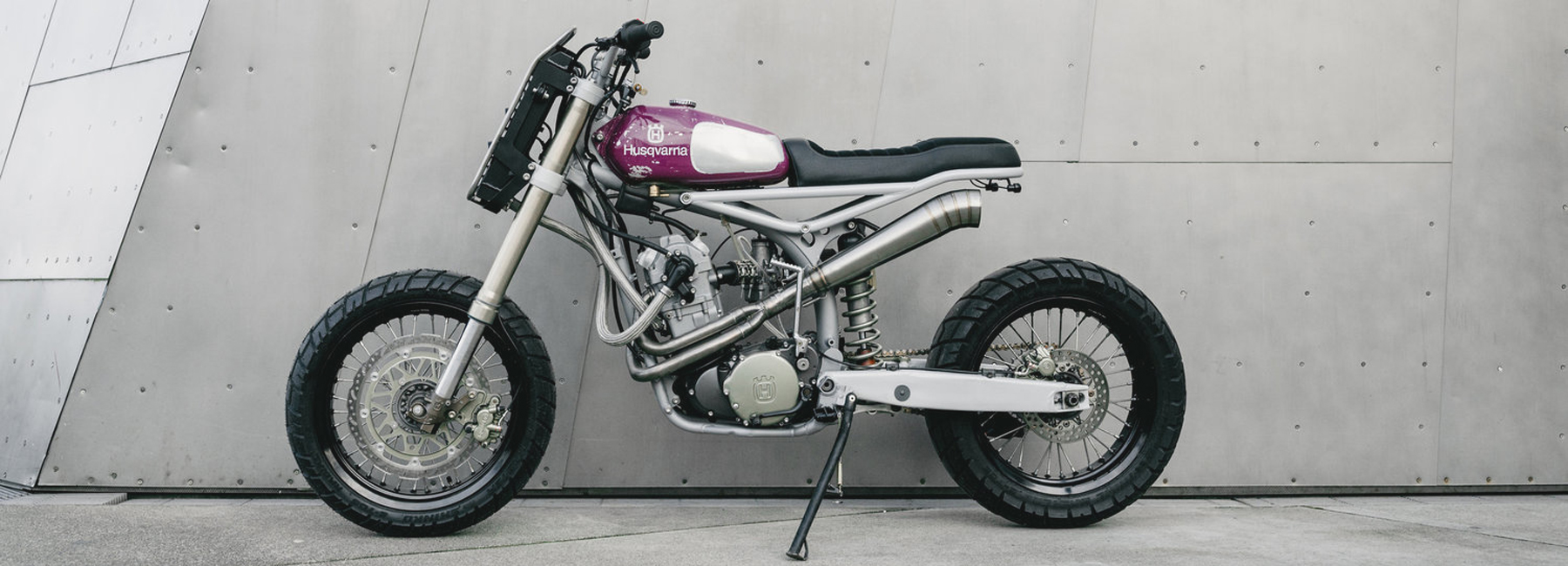 The Husqvarna Te570 Custom Motorcycle By Motomucci