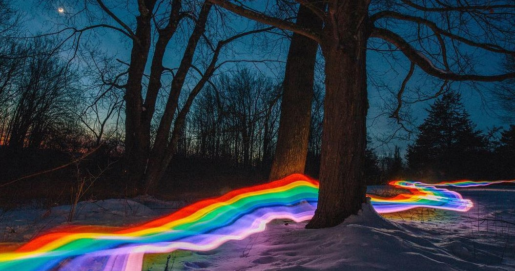Rainbow Road Roams River Bends And Rocky Creeks Where