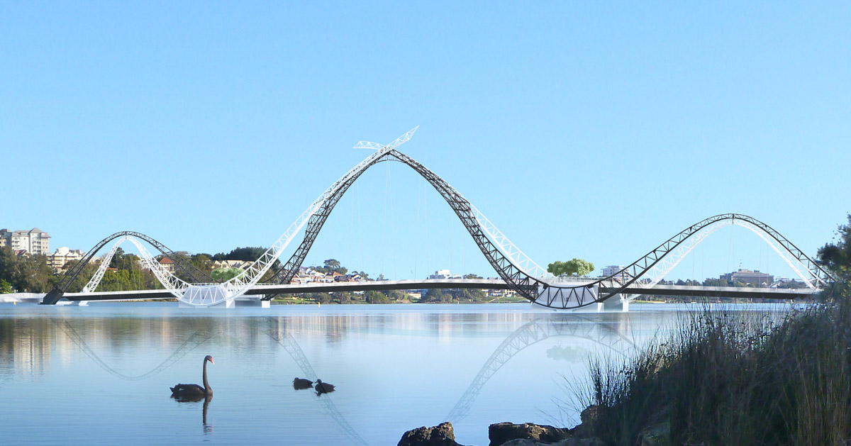 Matagarup Bridge Engages Its Landscape In A Sequence Of
