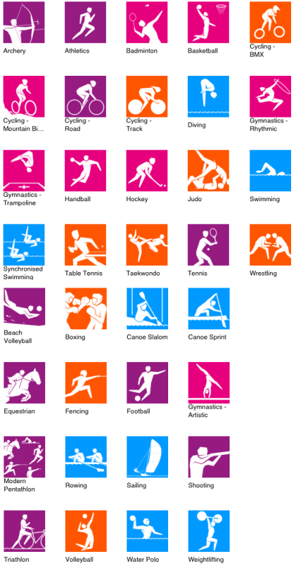London Olympic 2012 icon designs