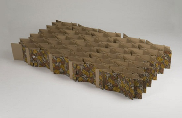 Carton bed by Antoinette Bader