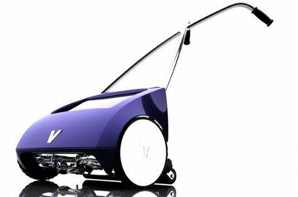 Manual-solar hybrid lawnmower