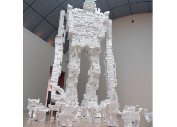 Polystyrene Giant Robot Sculpture