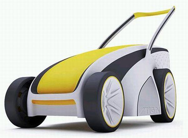 Solar-electric lawnmower