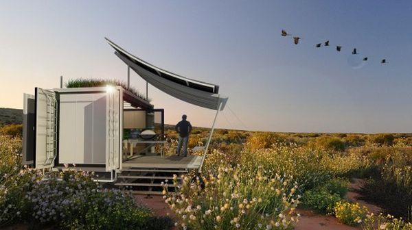 The Dwell shipping container-based home by G-pod