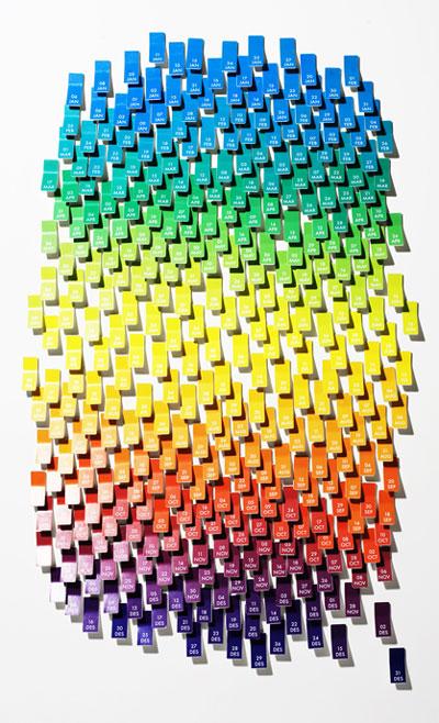 Calendario Pantone en Design Buzz