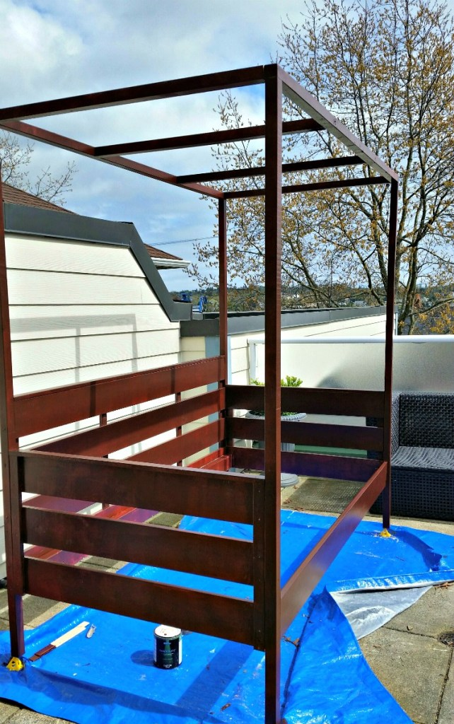 Painted daybed, outdoor daybed, daybed with canopy outdoor daybed with canopy