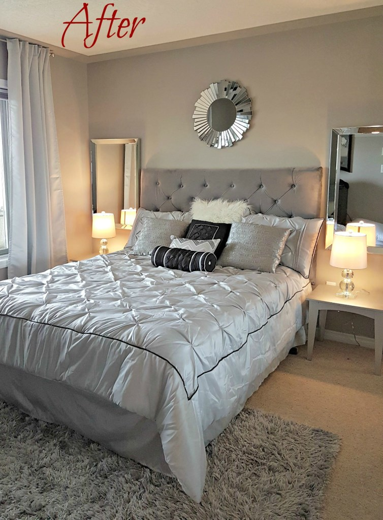 stage your bedroom, master bedroom reveal, Greg's condo