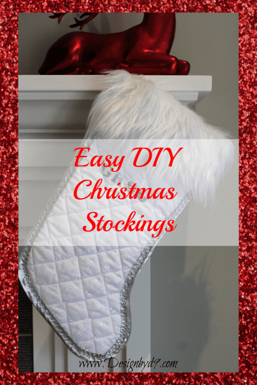 Easy DIY Christmas stockings you can make yourself! Make them any style any colour to match your decor. #Christmasstockings