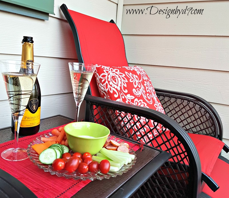 $100 Room Challenge| #100roomchallenge|Deck refresh|recover sling chairs|recover patio furniture