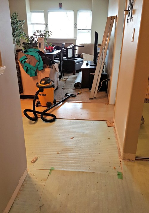 laminate flooring, Greg's condo, Renovating condo, installing laminate flooring