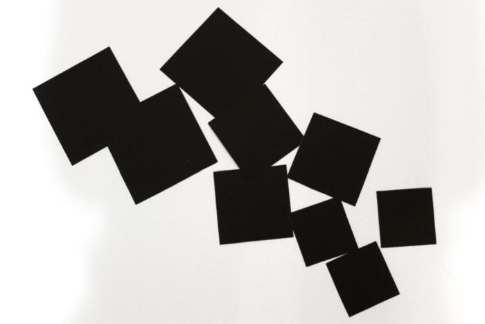 Paper squares black on white