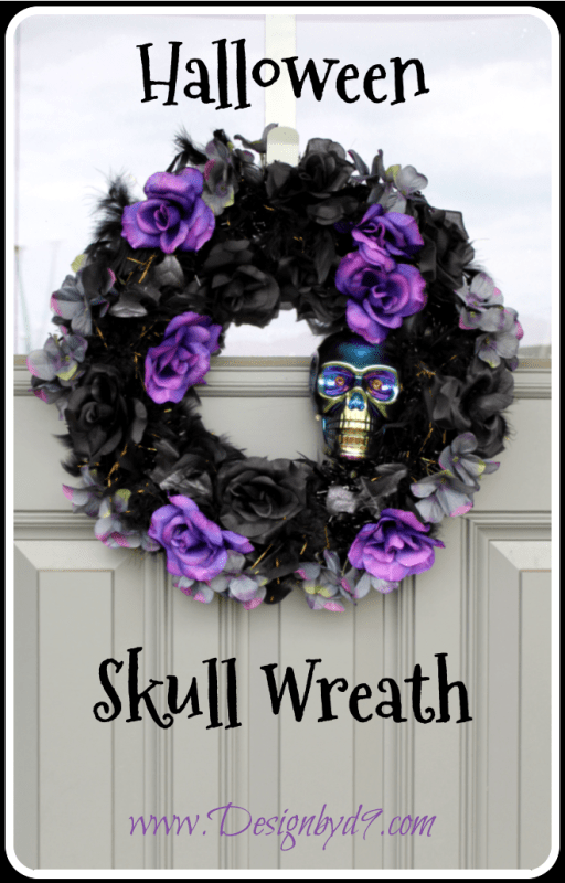 Don't just make a Halloween wreath when you can make a scary skull wreath. Well okay it'a not just scary it's really pretty too! Rose and skull wreath.