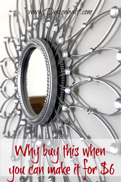 As my July look for less challenge I made this glamorous metal look mirror out of zip ties! It was easy and fun to do and it only coat about $6