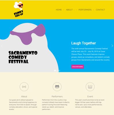 Web Design-Sacramento Comedy Festival