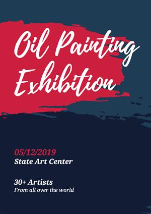 customize exhibition poster templates