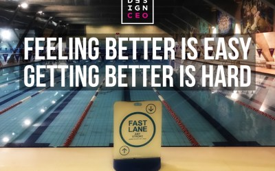 Feeling better is easy. Getting better is hard.