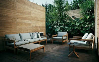 Tropische sfeer met teak tuinmeubelen