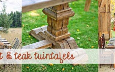 Teak Tuintafels in de Herfst