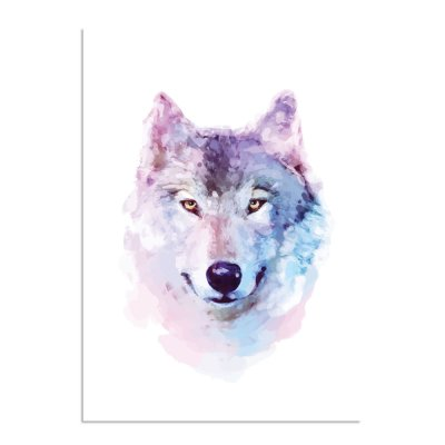 waterverf-wolf-portret-a3-3