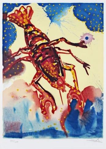 Câncer. Representado aqui por uma lagosta (e não pelo habitual carangueijo).