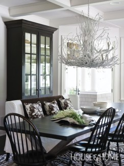 Nature-inspired cottage interior