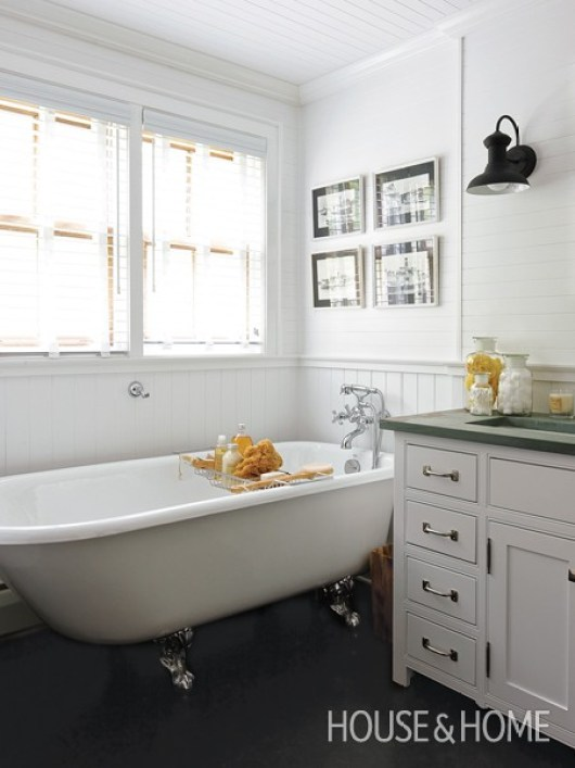 White cottage bathroom