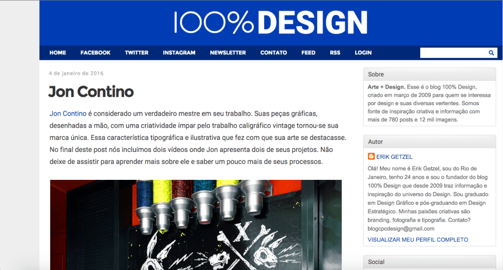 Home do blog 100% Design