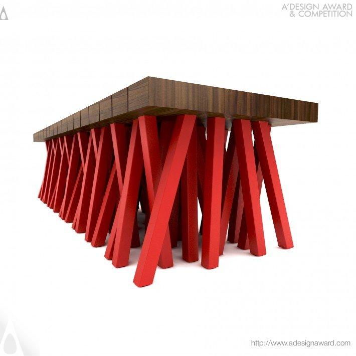 Uma outra vista do Banco Centopéia por Mula Preta Design.