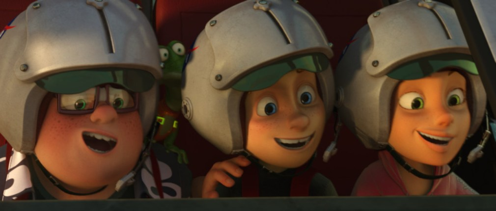 (L-R) Marty Farr, Mike Goldwing, and Amy Gonzalez in the animated film, CAPTURE THE FLAG, by Paramount Pictures