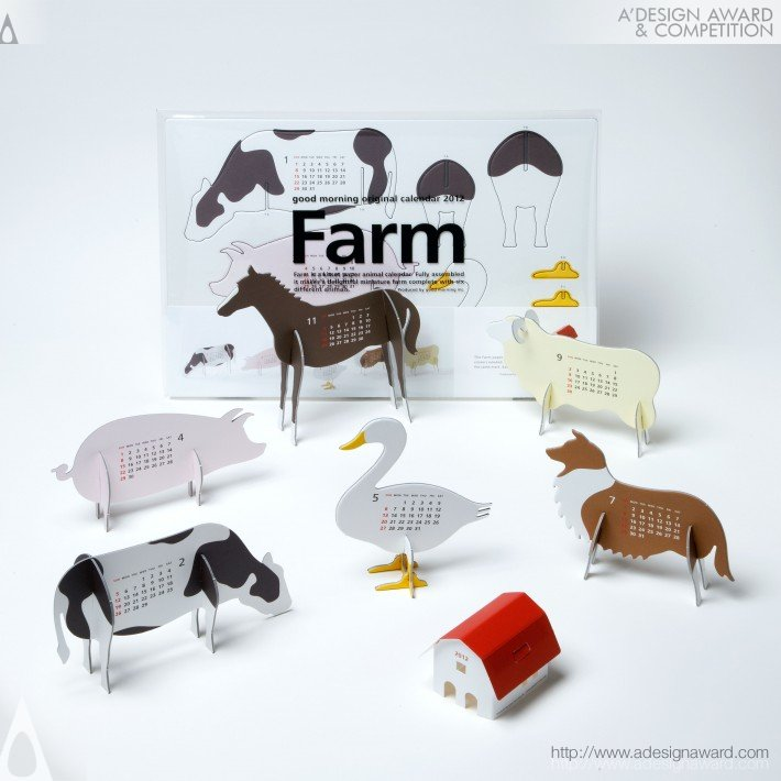 "Good Morning Origanl Calendar ""Farm"", por Katsuro Tamura - ganhador do troféu platinum 2012."