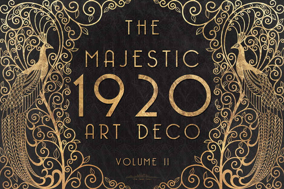 The Majestic Art Deco Patterns Collection 60 Seamless Vector Patterns
