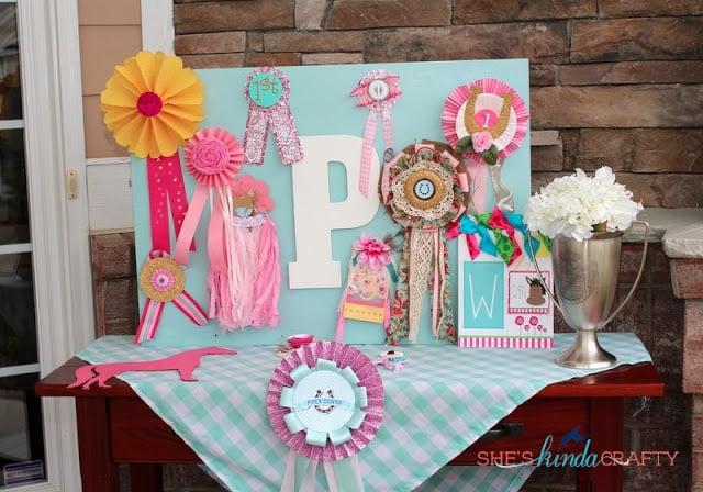 Girl Horse Birthday Party Design Dazzle