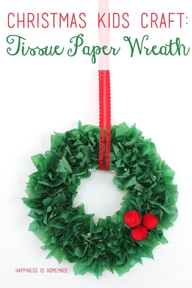 Christmas Kids Craft Tissue Paper Wreaths Design Dazzle