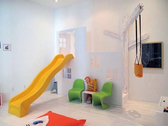 Add An Element Of Fun With Indoor Slides Design Dazzle