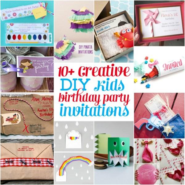 10 creative diy kids birthday party invitations  design