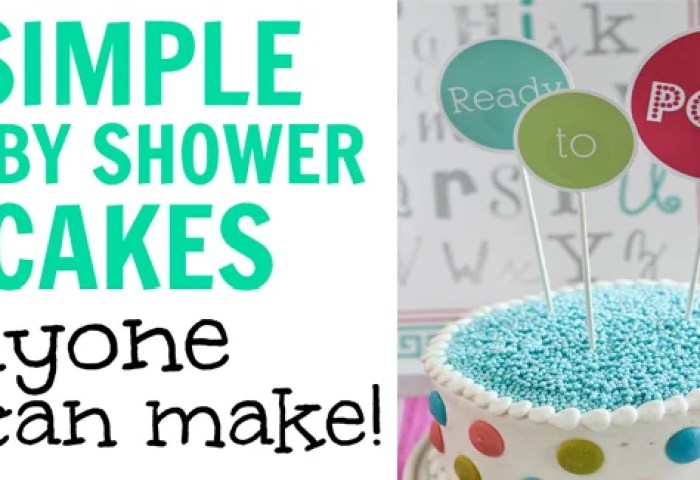 Diy Baby Shower Cake Ideas How To Make Simple Easy Homemade Cakes