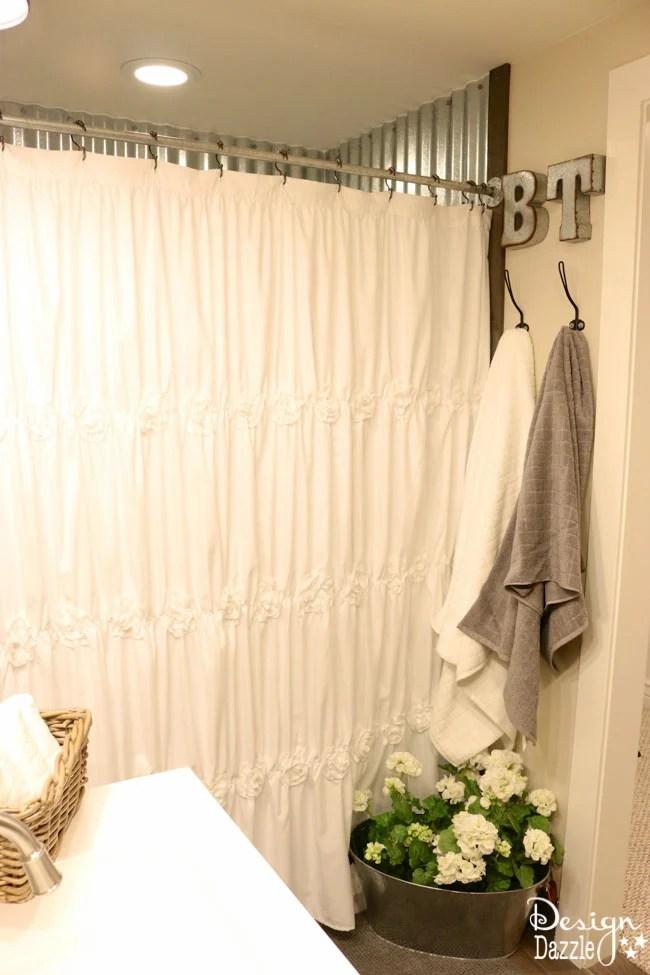 Farmhouse Bathroom IKEA Style - Design Dazzle on Farmhouse Curtain Ideas  id=12486