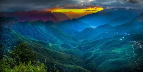 Lien Hoang Mountain Range near Sapa